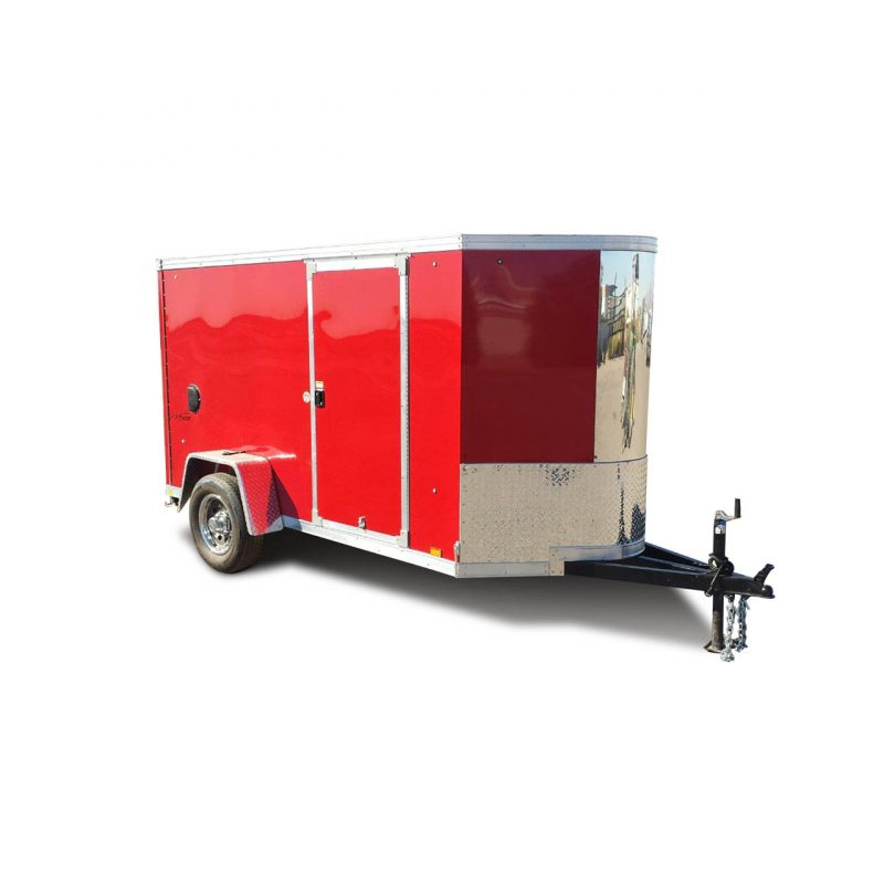 Vision - Cargo Trailer - Bullnose - Red - Cargo Hauler - LOOK Trailers