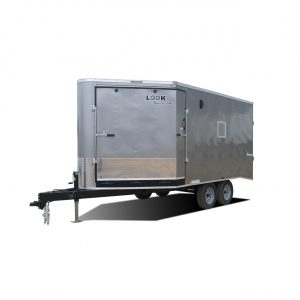 Element Puresport Deckover - Snowmobile Trailer - Silver – Auto Hauler Trailer - LOOK Family of Brand
