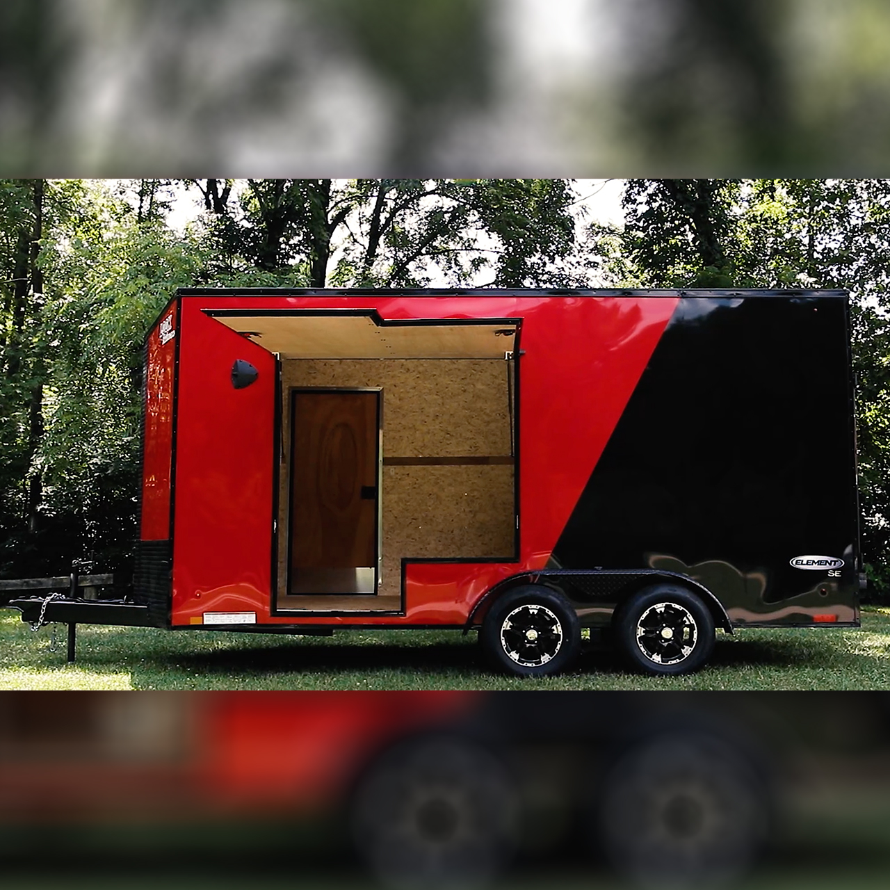 Element SE - Awning Doors - Custom Options - Auto Hauler - LOOK Trailers