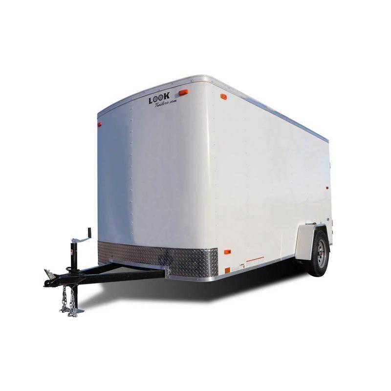 ST Auto Hauler - Race Trailer - Cargo Trailer - White- LOOK Trailers