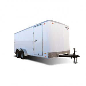ST Auto Hauler - Race Trailer - Cargo Trailer - White- LOOK Trailers