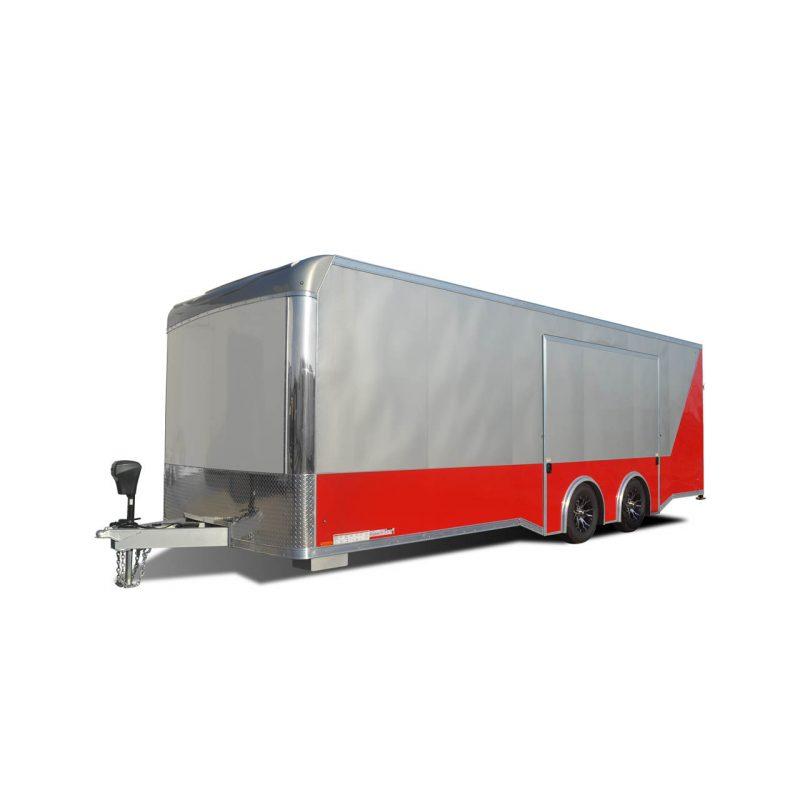 LXT - Auto Hauler - Cargo Trailer - Escape Door - Silver - Red - LOOK Trailers