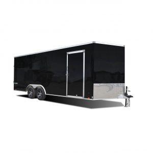 Platinum Aluminum - Cargo Trailer - Black- Auto Hauler- LOOK Trailers