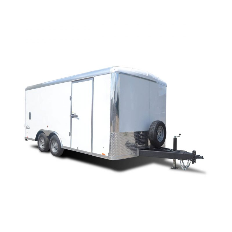 Ignite - Mobile Office - White - Options - Spare Tire - Work Trailer - LOOK Trailers